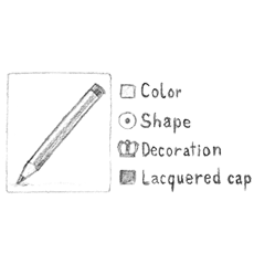 graphic for configuration of a pencil